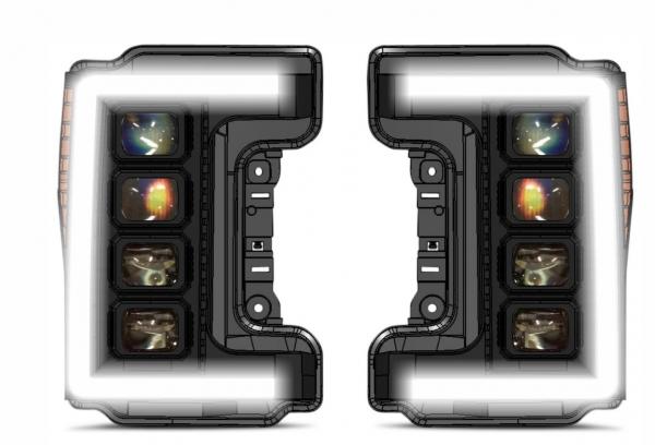 17+ Superduty MultiLed Projector Headlights