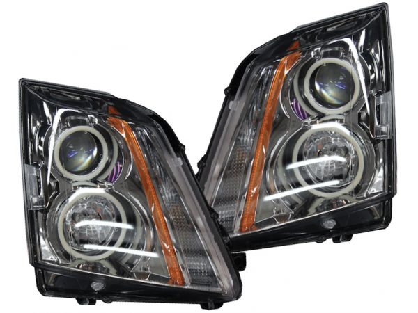 08-14 Cadillac CTS Switchback LED Halo Projector Headlights