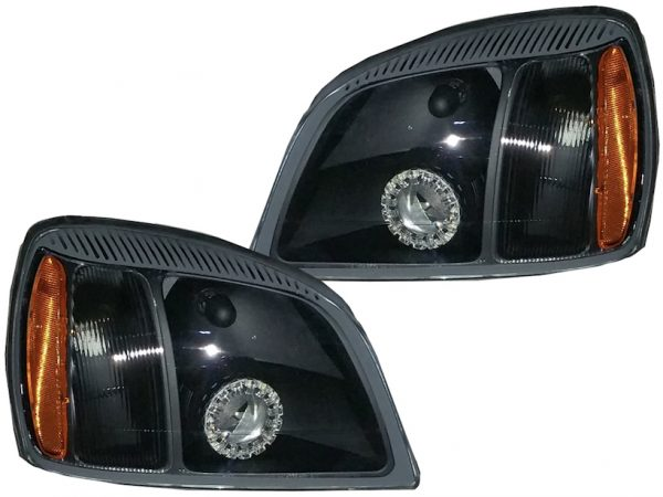 2000-2005 Cadillac Deville Black Projector Headlights