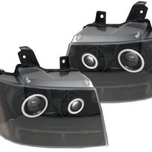 07-14 Chevrolet Tahoe RGBW Led Halo Black Projector Retrofit Headlights