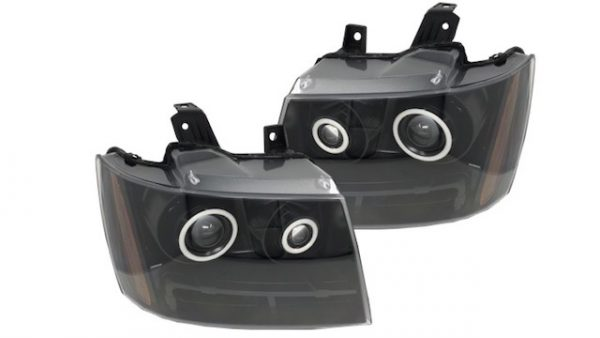 07-14 Chevrolet Tahoe RGBW Led Halo Black Projector Retrofit Headlights