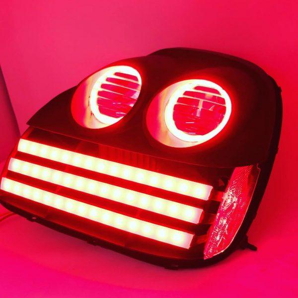 2003-2005 Toyota MR2 Spyder Custom Retrofit Black LED Tail Lights