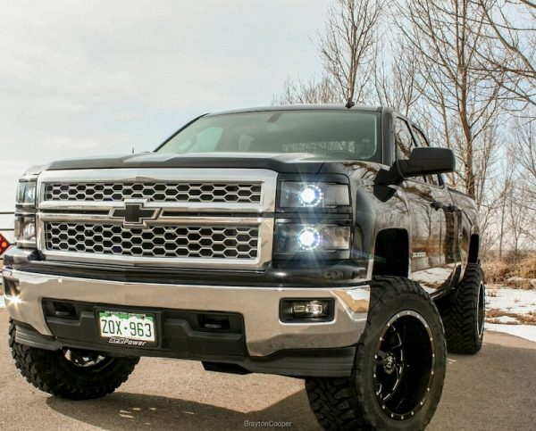 14-15 Chevrolet Silverado 1500 Custom Halo Projector LED Headlights