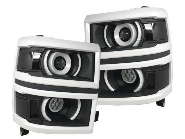 14-15 Chevy Silverado 1500 LED Projector Headlights