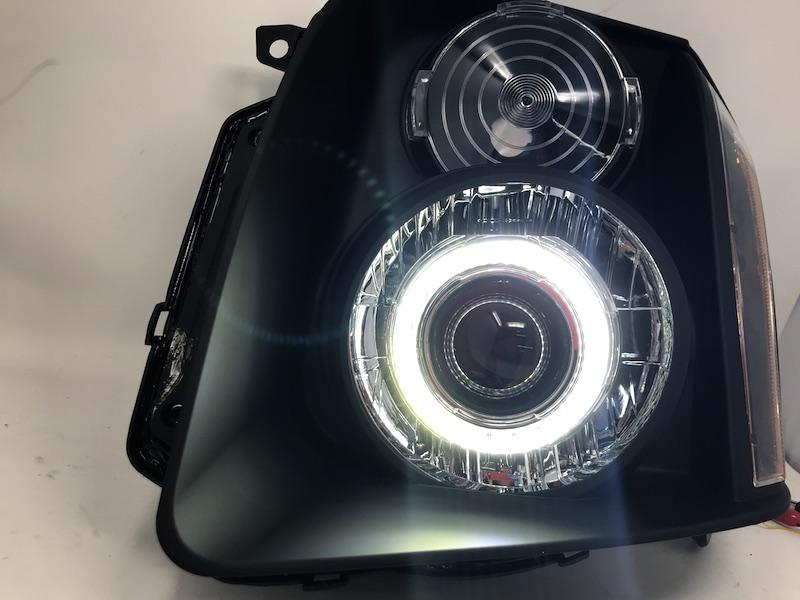 Dual CCFL Halo 2007-2014 GMC Yukon//XL//Denali Projector Chrome Headlights Pair