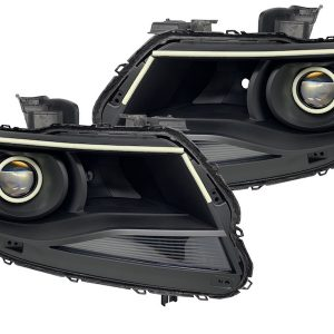 2015-2018 Chevrolet Colorado Led Halo Projector Black Headlights