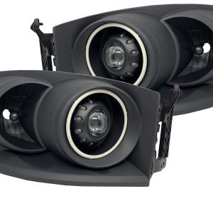 06-09 Dodge RAM Black Projector Headlights with RGB Halos