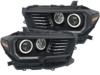 16-19 Toyota Tacoma Quad Retrofit Projector RGB Led Halo Headlights