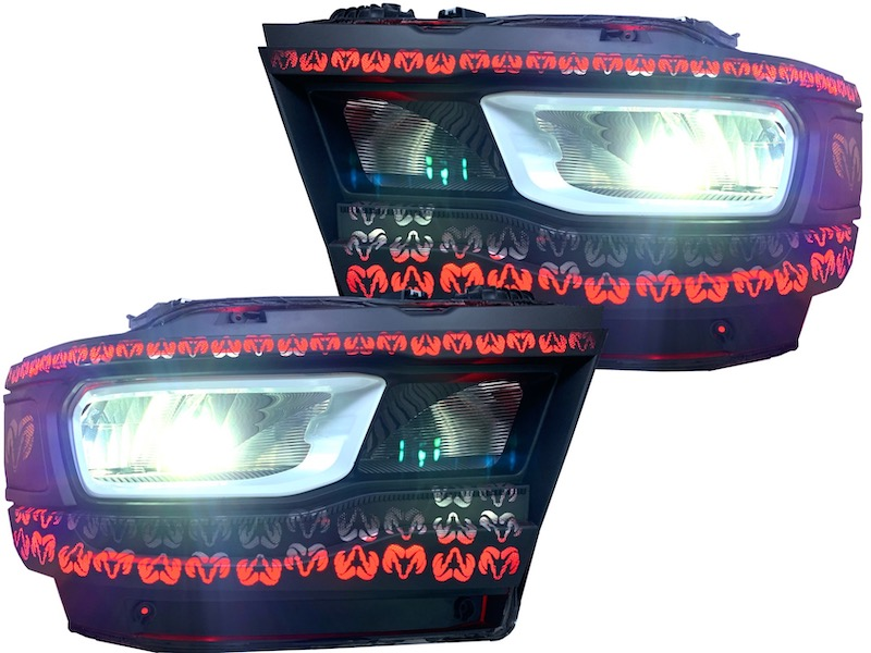 2019+ Ram 1500 LED Headlights Color Changing Outline