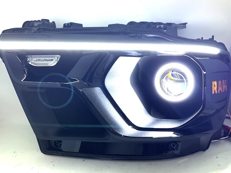 2019 5th Gen Ram Black Headlights W/ LED Switchback Halo