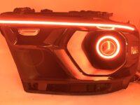 2019 5th Gen Ram Black Headlights w/ LED Switchback Halo Eyebrows