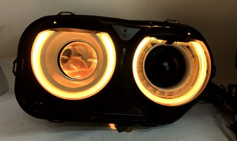 2015-19 Dodge Challenger LED Halo Headlights Custom Color Match
