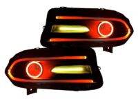 dodge charger led halo headlights