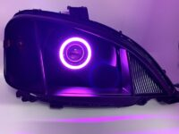 2002-2020 Freightliner M2 106 Business Class Black RGB Led Halo Projector Headlights