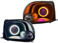 2000-2006 Toyota Tundra Custom Black Retrofit LED Projector Headlights