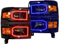 2014+ Chevrolet Silverado RGB LED Halo Headlights5