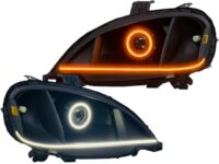 2002-2020 Freightliner Custom Black LED Headlights