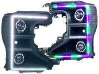2020 Ford F-250 Superduty ColorShift LED Projector Retrofit Black Headlights