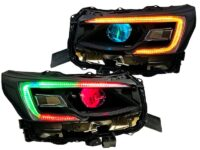 2020-2021 Subaru Legacy Outback Black Headlights with RGBW Led DRLS